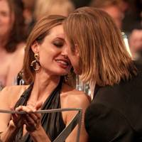 Brad Pitt and Angelina Jolie at the SAGs 2012