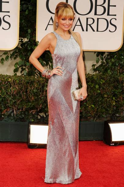 Nicole Richie at the Golden Globes 2012