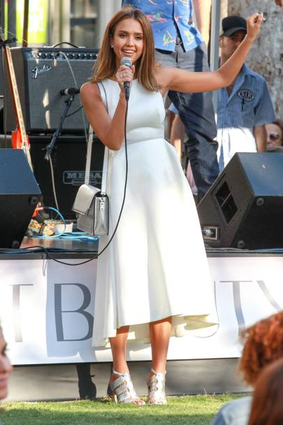 bcfea227a52 Jessica s style just keeps getting better and better. We loved this  all-white look she rocked recently.