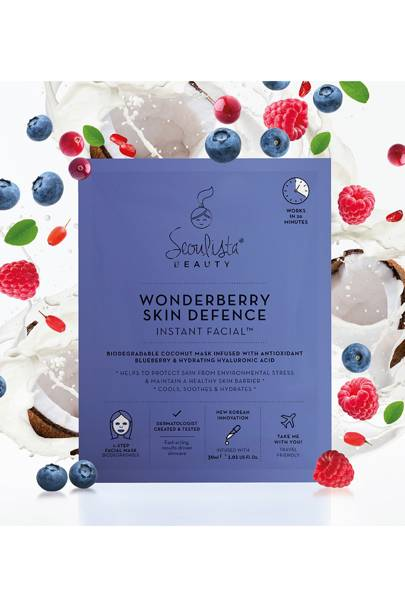 Wonderberry Skin Defence Instant Facial by Seoulista