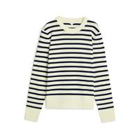Everyone needs a stripy knit. This one by Arket mirrors the traditional mariniere. Wear it with raw denim jeans or leather trousers.