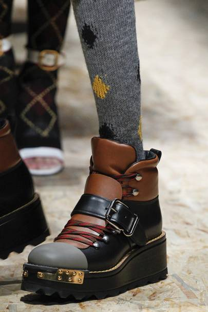 THE KEY ACCESSORY: Hiking boots