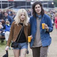 Peaches Geldof and Thomas Cohen at Glastonbury