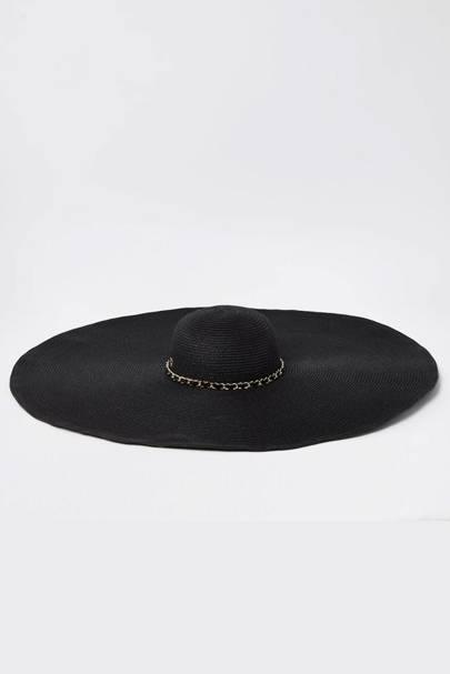 Best Sun Hats: Black Straw Hat