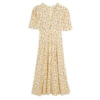 M&S x GHOST JUNE COLLECTION Yellow Cherry Dress