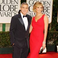 George Clooney and Stacy Keibler at Golden Globes 2012