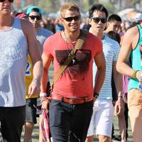 Kellan Lutz at Coachella 2012