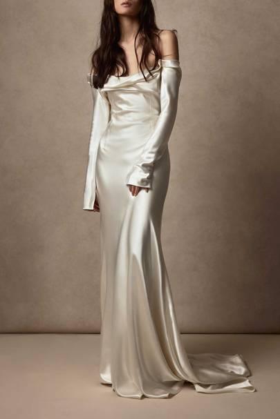 LONG-SLEEVED WEDDING DRESS: SILK