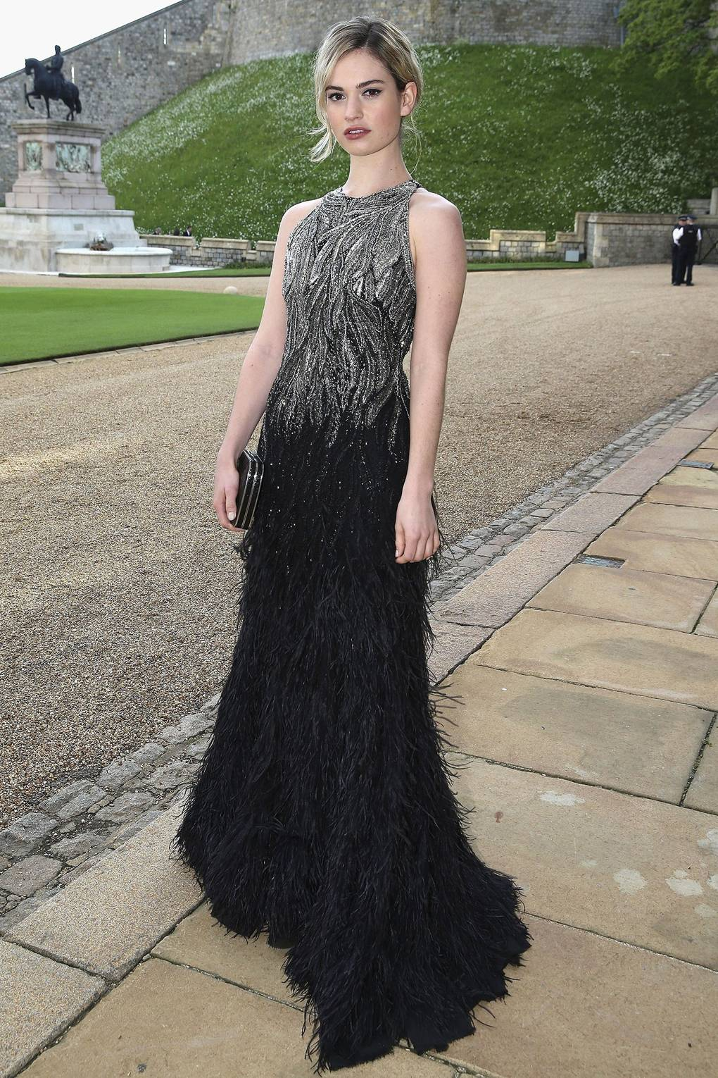 Lily James Red Carpet Style Cinderella Street Outfits Clothes Glamour Uk