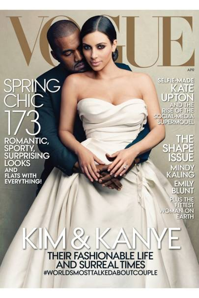 Kim Kardashian Kanye West Vogue April cover photos | Glamour UK