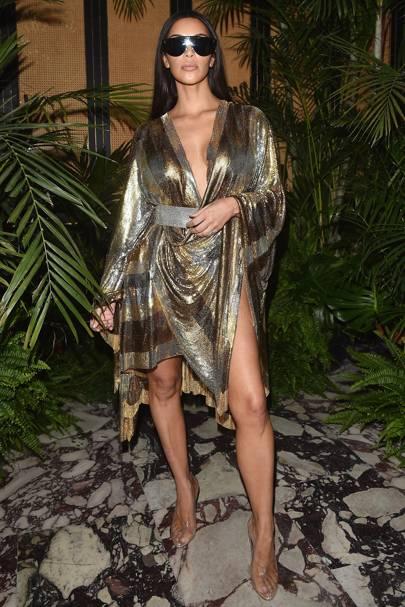 Kim Kardashian at Balmain spring/summer 17