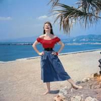 Brigitte Bardot in Cannes in 1955