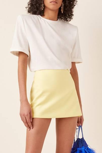 Best padded shoulder white t-shirt