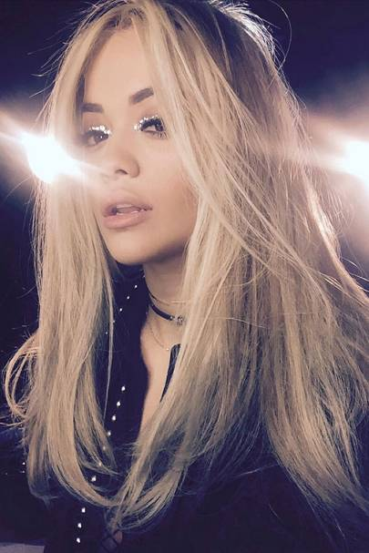 Rita Ora's sparkly eyes