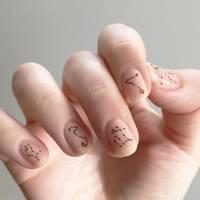 Zodiac nail art