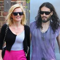 Geri Halliwell and Russell Brand