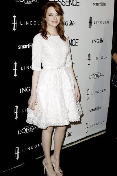 At A Photocall In Early 2017 Emma Stone Tries Her Hand The 50s Style Silhouette This Princess Perfect Dress Which She Accessorises With Lashings Of