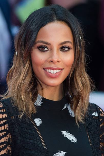 Rochelle Humes Looked Gorgeous At The Premiere For Bridget Jones Baby We Love Her Grown Out Ombre Look So Chic