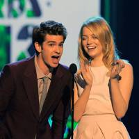 Andrew Garfield and Emma Stone at the Kids' Choice Awards