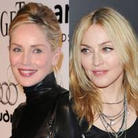 Madonna and Sharon Stone