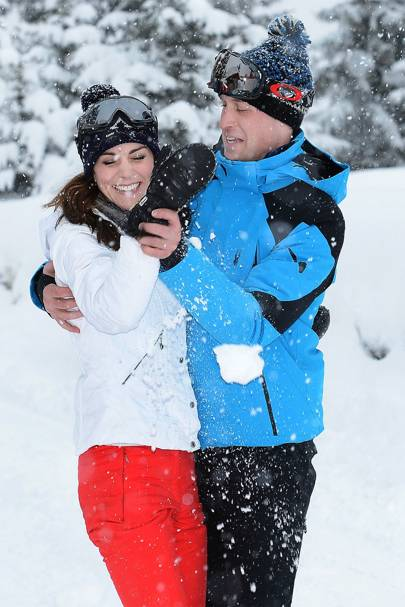 Kate & Wills frolicking in the snow