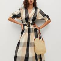 SUMMER DRESSES FOR BIG BOOBS: The Checked Midi