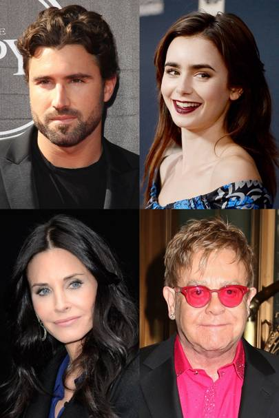 Elton John, Brody Jenner, Courteney Cox & Lily Collins