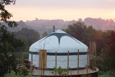 Best yurt glamping with hot tub