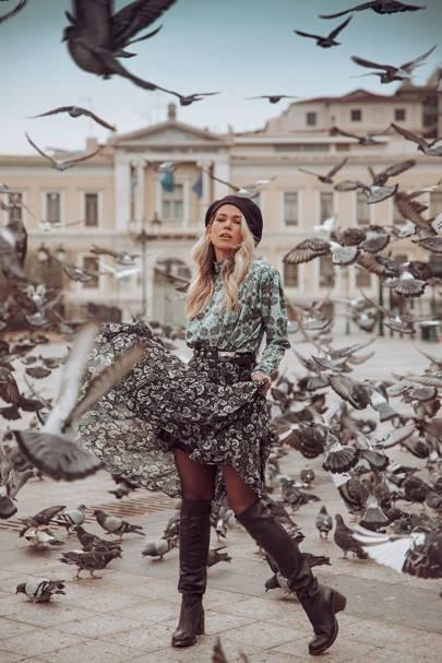 Gabrielle Body and Camelia Astra Skirt by Vassia Kostara