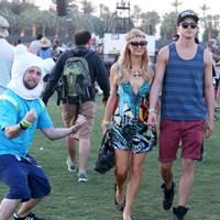 Coachella Reveller & Paris Hilton