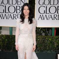 Jessica Biel at the Golden Globes 2012