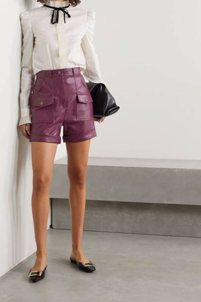 Net-A-Porter Singles' Day sale: the leather shorts