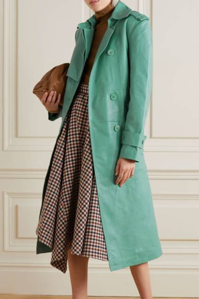 Leather coats: the coloured trench