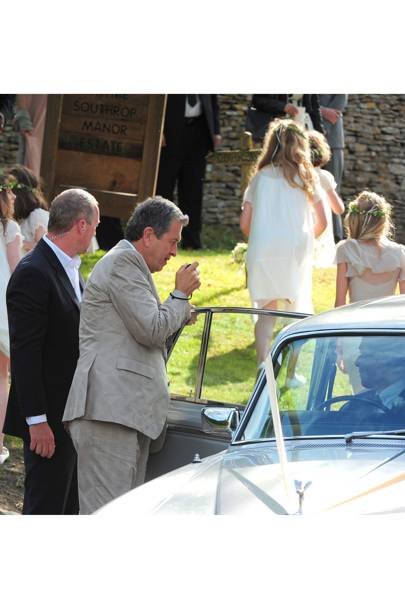 Mario Testino takes photos at Kate Moss' wedding