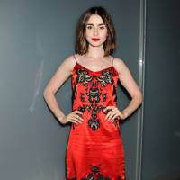 Lily Collins at Flaunt Magazine's party in LA