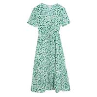 M&S x GHOST JUNE COLLECTION Printed Green Dress