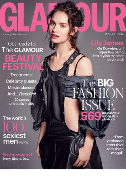 Lily James GLAMOUR Magazine Cover & Interview
