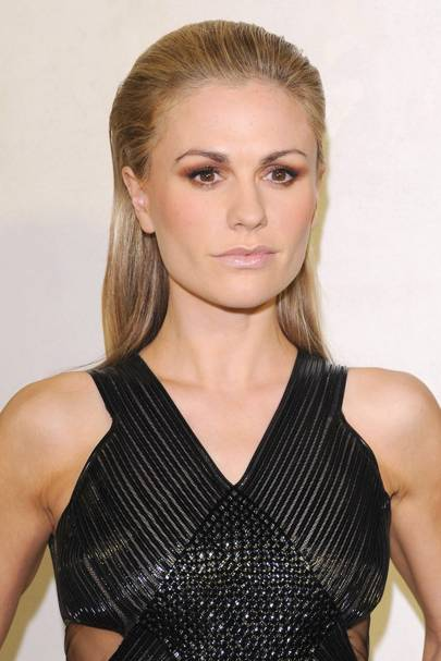 Thought You Couldn T Pull Off The Wet Look Hair Trend Just Make Like Anna Paquin And Slick Straight Back From Your Face Spraying Into Place With A