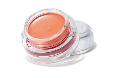 The sheer lip and cheek shimmer
