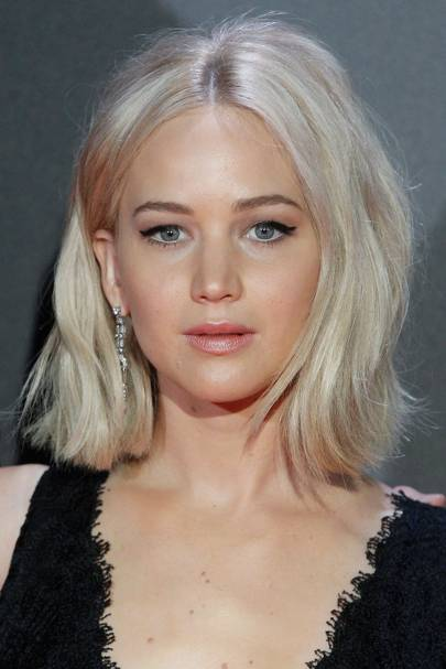 Jennifer Lawrence's icy blonde bob