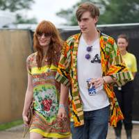 Florence Welch and James Nesbitt at Glastonbury
