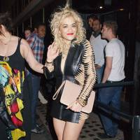 Rita Ora – Jackets as Dresses