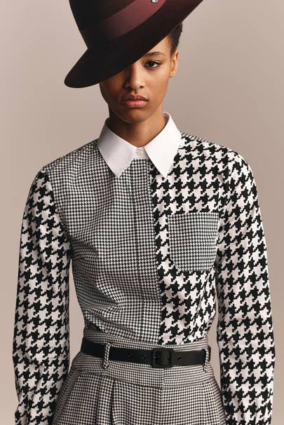 3. THE LOOK'S HIGHLIGHT: The houndstooth-mix detail