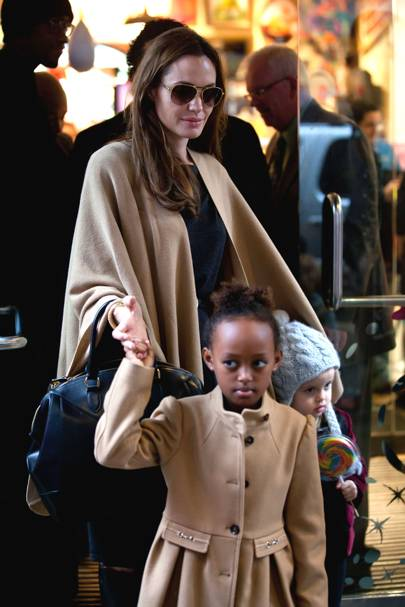 Zahara Jolie-Pitt & Angelina Jolie