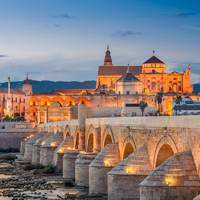 Spain: The Roman bridge in Cordoba, Andalusia