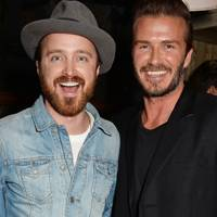 Aaron Paul & David Beckham
