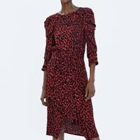 THE ASYMMETRIC ANIMAL PRINT SKIRT
