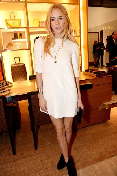 Mary Charteris at the Louis Vuitton townhouse opening in London