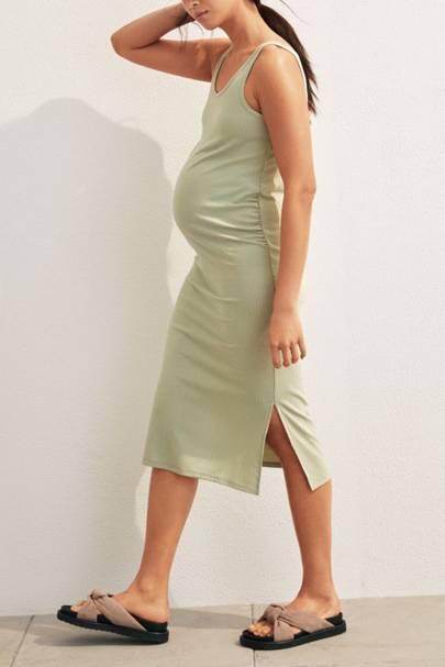 Best maternity ribbed dress