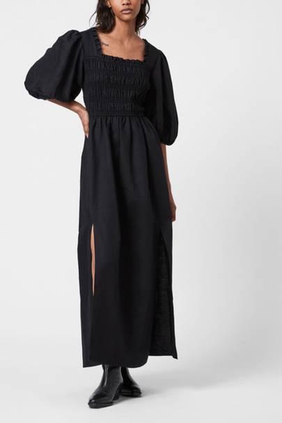 POST-LOCKDOWN SUMMER DRESSES: BLACK MAXI